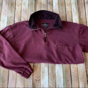 Weatherproof men's quarter zip pullover
